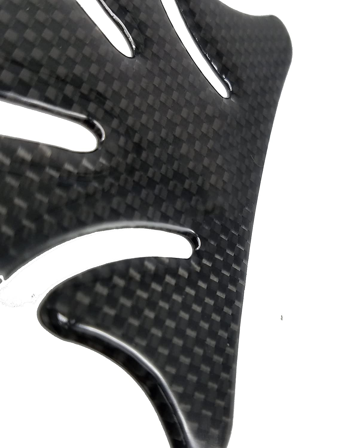 5 Layer Real Carbon Fiber 3D Silver Sticker Vinyl Decal Emblem Protection Gas Tank Pad For Suzuki SV650 All Models