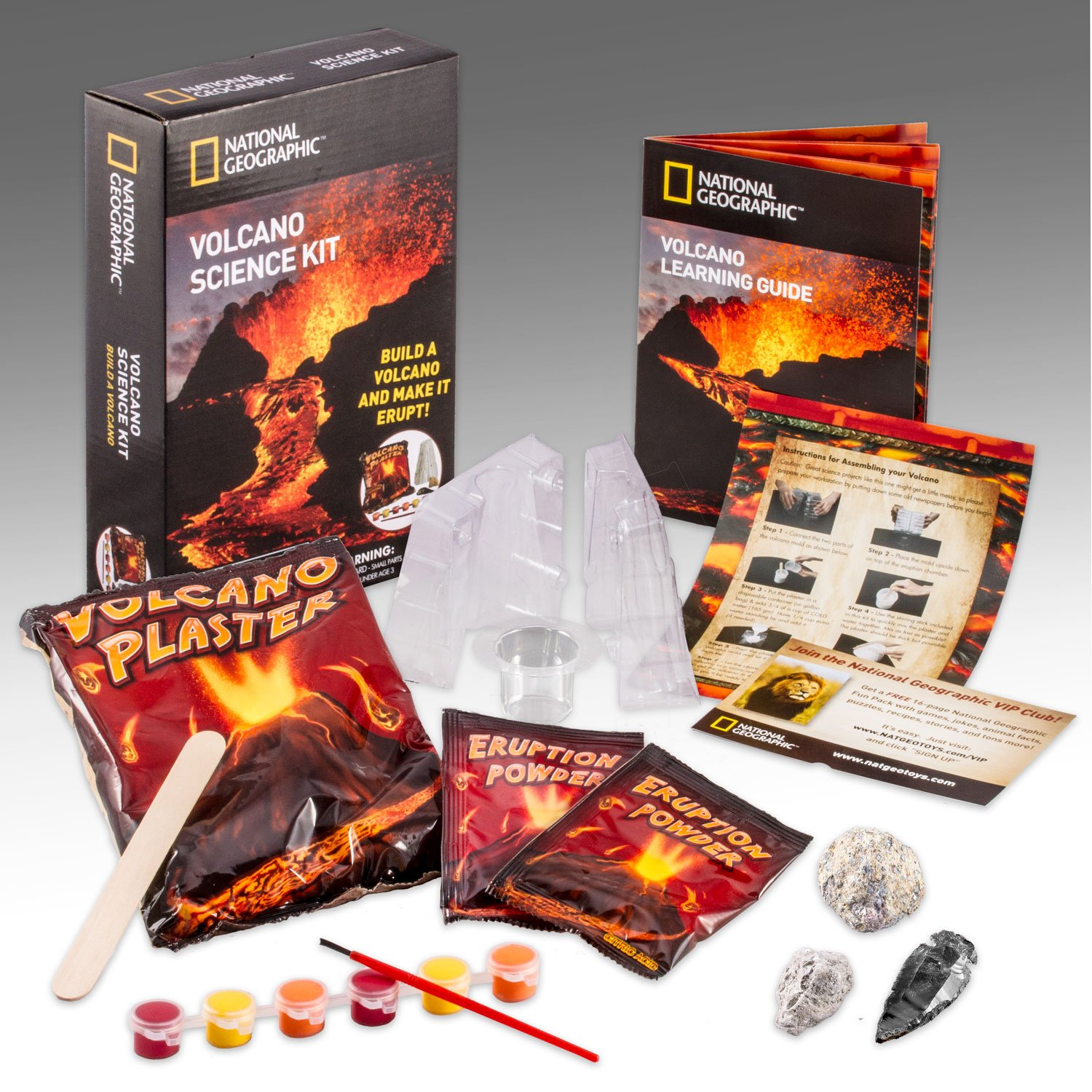 Amazon NATIONAL GEOGRAPHIC Volcano Science Kit Toys & Games