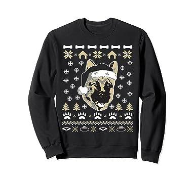 unisex german shepherd dog ugly christmas sweater xmas 2xl black
