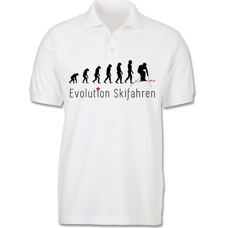 Evolution - Skifahren Evolution - kurzärmeliges Poloshirt aus Baumwolle für Männer