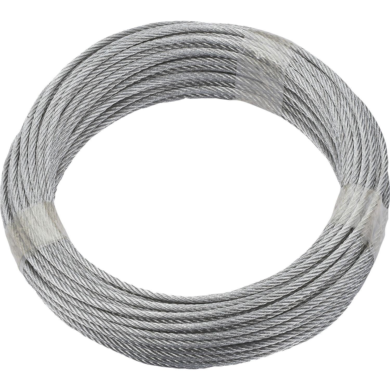 Quick-Fit Steel Cable Galvanised Diameter 3mm Length 10m; 6x 7, 190389 Dörner + Helmer