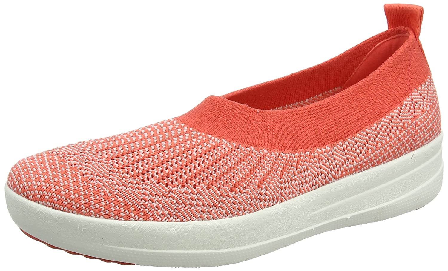 Fitflop H95 Women's Uberknit? Slip-On Ballerinas B01LYO0DLN 7 B(M) US|Hot Coral/Neon Blush