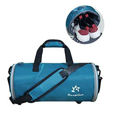 f3b57603969a Waterproof Sports Bag Dry and Wet- 25L Foldable Sports Gym Bag For Women  And Men  Amazon.co.uk  Clothing