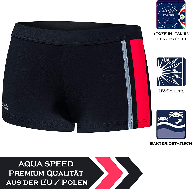 Ajuste Protecci/ón UV Pantalones de ba/ño S-XXXL Aqua Speed/® Mens Ba/ñadores Moderno Cord/ón Resistente al Cloro