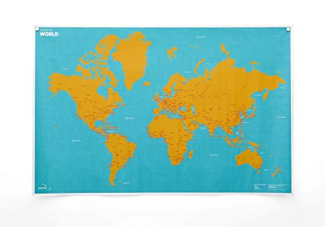 Amazon Com Crumpled World Innovative Wall Map By City Or Country
