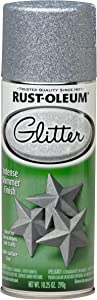 Rust-Oleum 267734 Spray Paint, Each, Silver Glitter