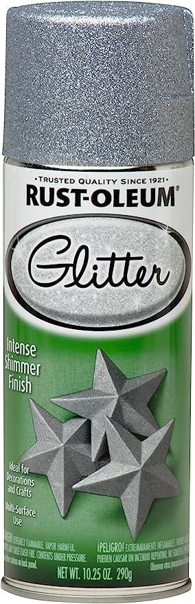 Rust Oleum 267734 Spray Paint Each Silver Glitter