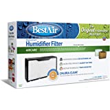 "BestAir CB41 Extended Life Humidifier Replacement Paper Wick Filter, 17"" x 10"" x 5"", For Essick/Bemis 400, 4D7, 600, 4000, 6000, ED11 Series Console (1041), Single Pack"