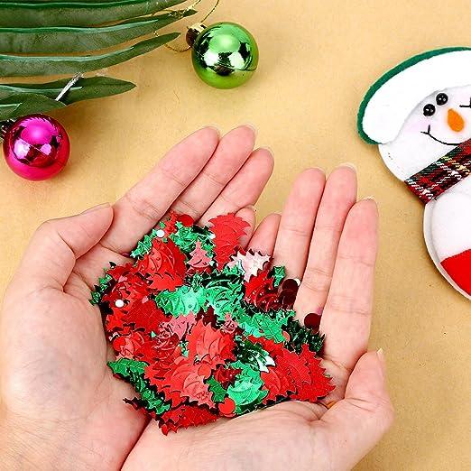 60 Gramos de Confeti de Árbol de Navidad Lentejuelas de Acebo y Bayas Confeti de Mesa para Decoración de Fiesta de Navidad Halloween: Amazon.es: Juguetes y ...