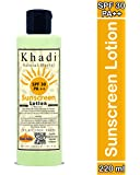 Khadi Natural Herbal SPF30 PA++ Sunscreen Lotion for Men Women 200ml