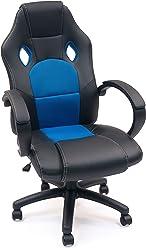 Homely Silla Gaming Mod. Gamer (Azul-Negro)