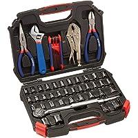 WORKPRO W003020A juego de 52 piezas de herramientas de mano y llaves de vaso (métricas y SAE, disco de 3/8 pulgadas).