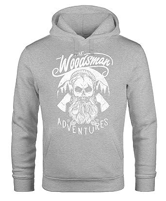 Cooler Herren Kapuzen-Pullover Lumberjack Hipster Bart Totenkopf Neverless:  Amazon.de: Bekleidung