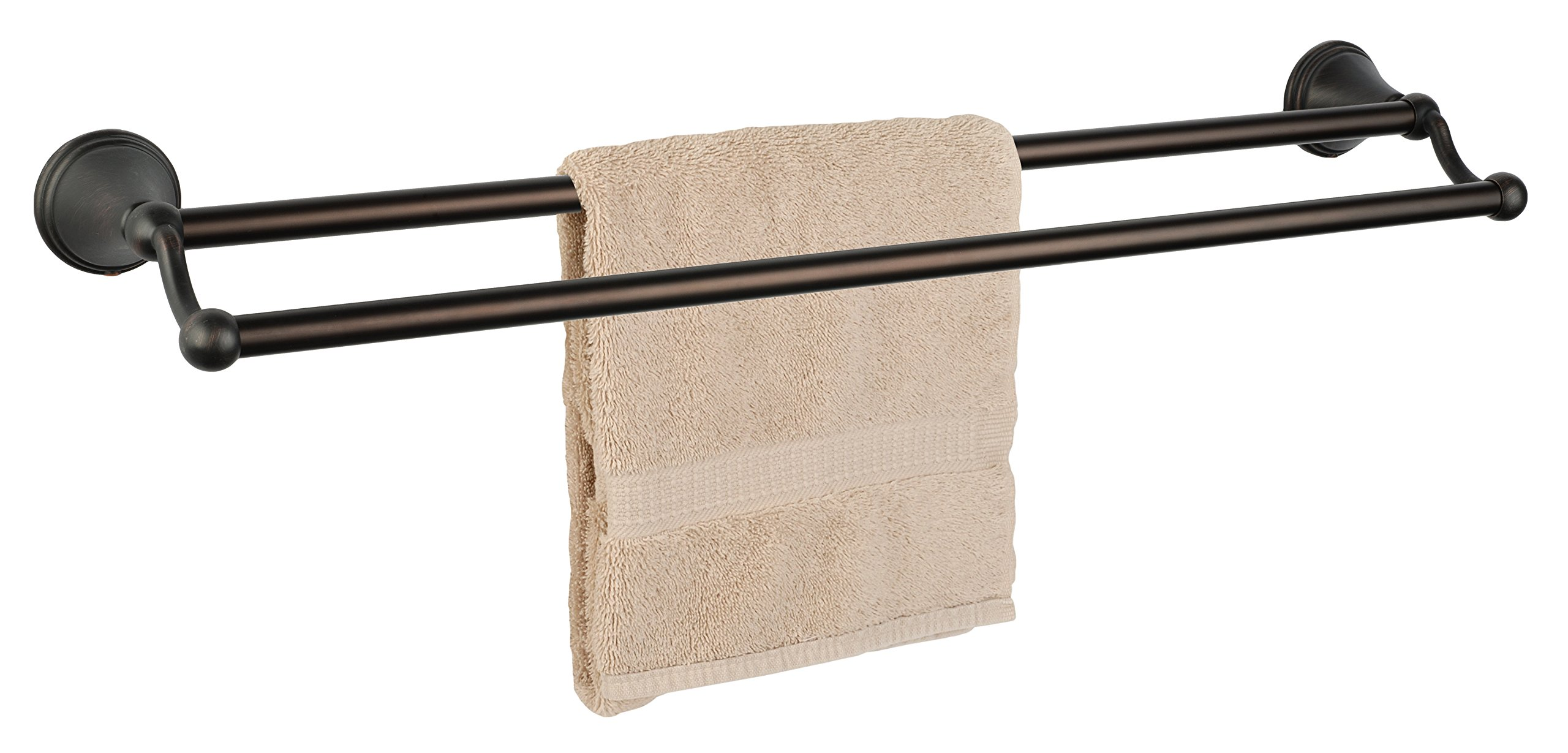 Dynasty Hardware 9316-ORB Bay Hill 24'' Double Towel Bar Oil Rubbed Bronze by Dynasty Hardware