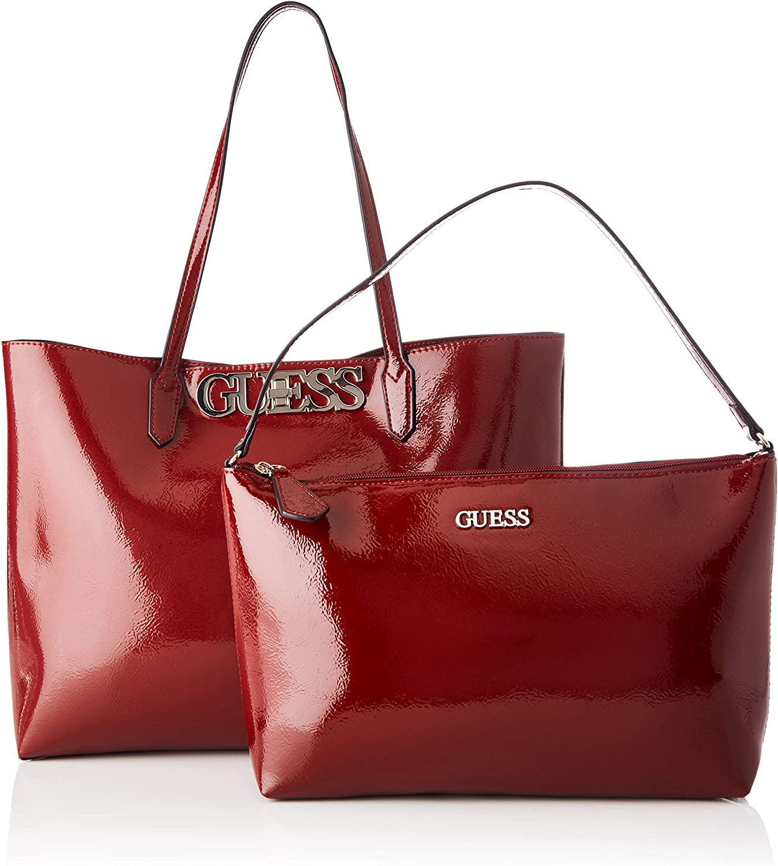 Guess Uptown Chic, Borsa Tote Donna, 12.5x29x42 cm (W x H x L) Rosso (Merlot)