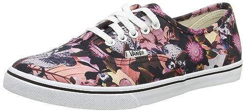 ddd93539fe Vans Women Authentic Lo Pro (Floral Mix) Black Pink VN000XRNIQH ...