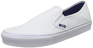 529e72155a Vans Men s Slip-On Sf (Brothers Marshall) White Loafers and Moccasins - 10