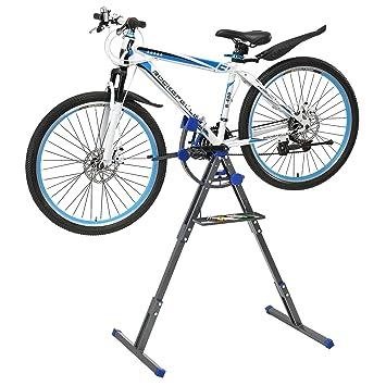 4aabf00d576d5  pro.tec  Profi Fahrrad - Montageständer (dunkelgrau - blau)  Reparaturständer Winkel