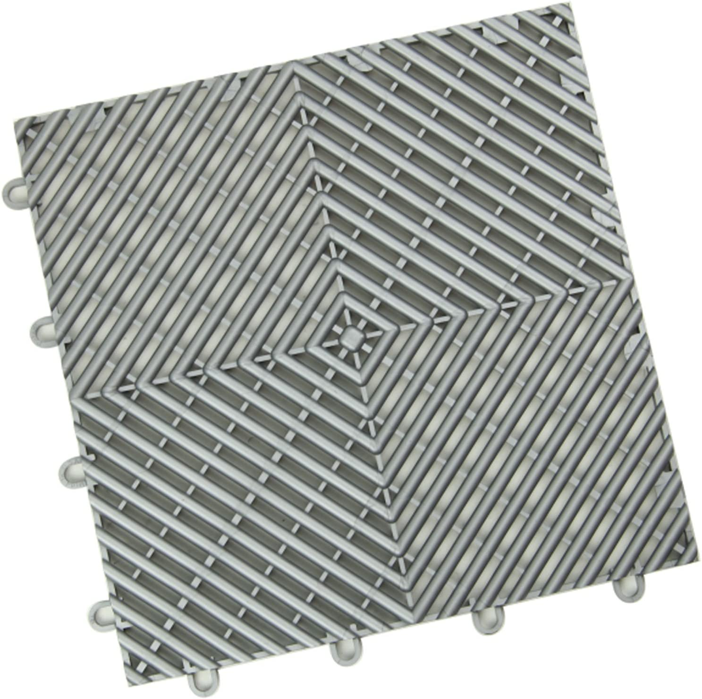 12 Tile Pack - Imperial Purple IncStores Diamond Grid-Loc Garage Flooring Snap Together Mat Drainage Tiles