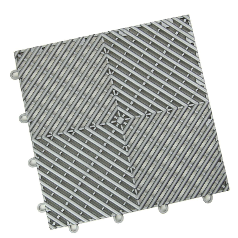 IncStores Vented Grid-Loc Garage Flooring Snap Together Mat Drainage Tiles