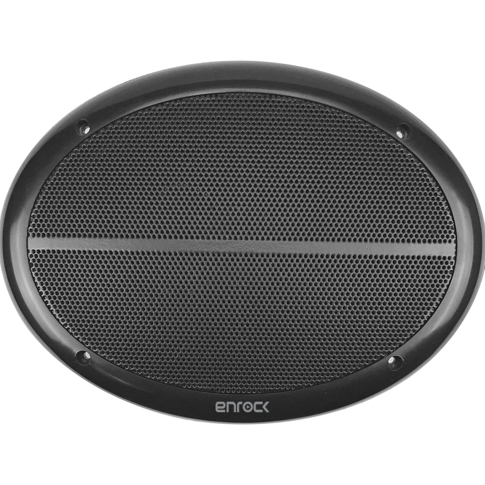 Enrock Marine EM692B Black Dual 6X9 Inch Weather Resistant Full Range Speakers 250 Watts Peak (Pair) by EnrockMarine (Image #4)