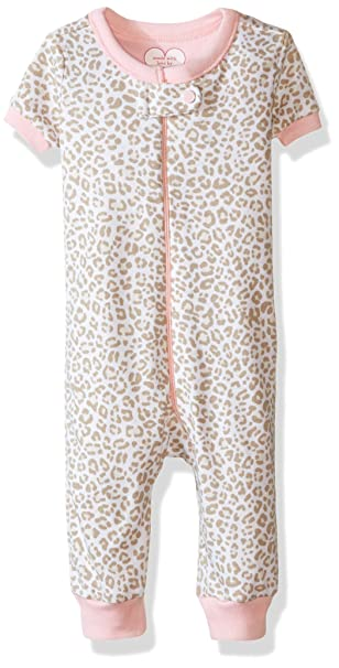 The Children's Place Girls' Stretchie Pajamas, Leopard Dune, 12-18 Months