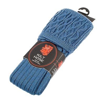 Mens Pipe Band Luxury Scottish Wool Kilt Hose Socks Various Colours Available Amazoncouk Clothing