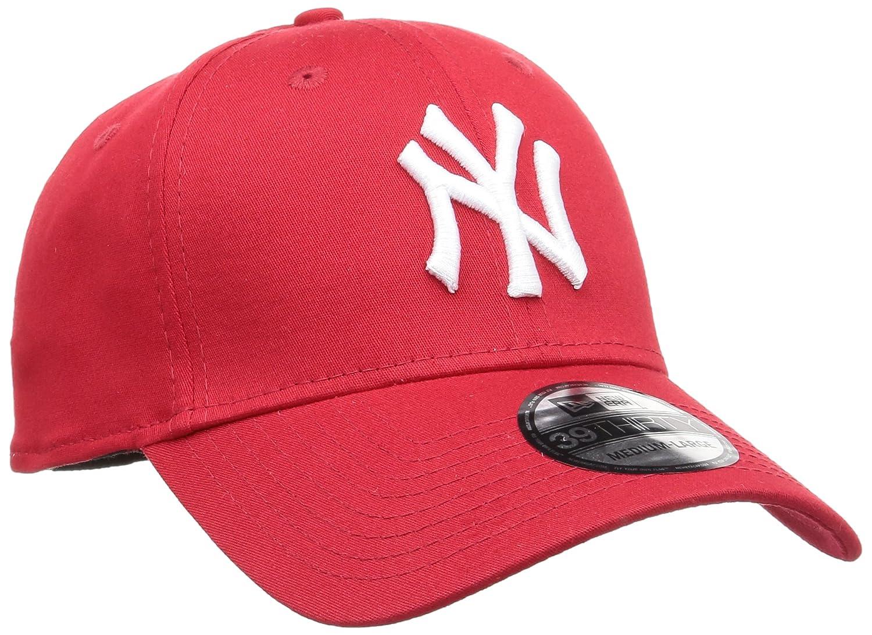 Amazon.com   New Era 39Thirty Flexfit Cap - NY YANKEES red   white - S M    Sports Fan Baseball Caps   Sports   Outdoors ee920a99e78