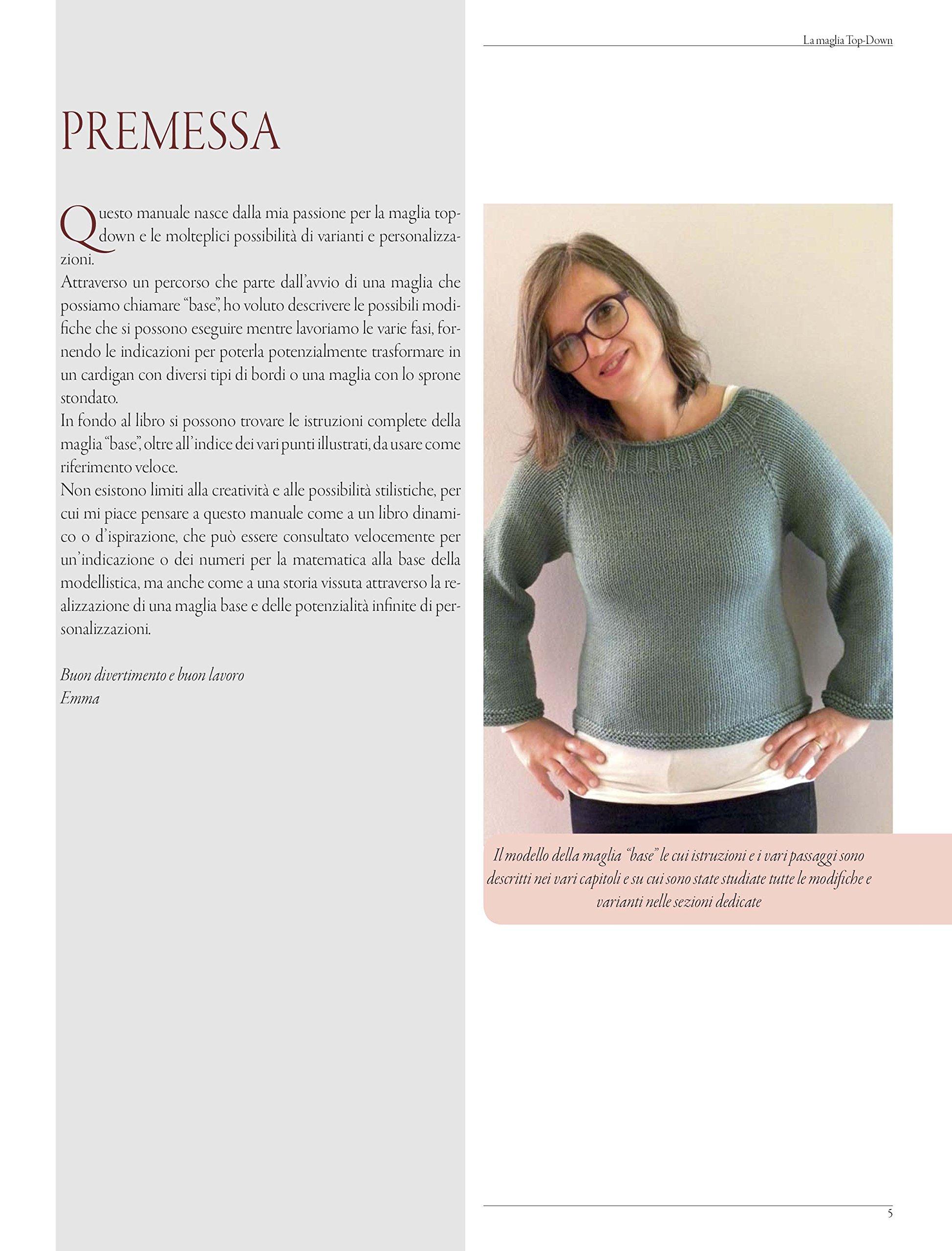 comprare popolare cd793 5ef8b Amazon.it: La maglia top-down. Manuale con istruzioni ...