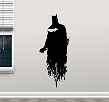 Batman Wall Decal Arkham Dark Knight Superhero Comics Cartoon Poster Wall  Vinyl Sticker Kids Teen Boy