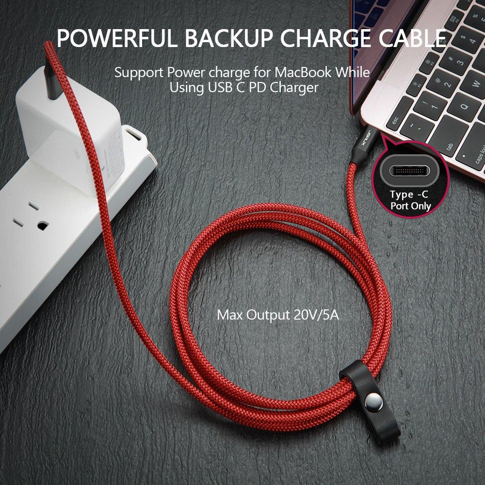 Amazon.com: USB Type C Cable 6.6ft, [20V 5A] JSAUX USB-C to USB-C ...