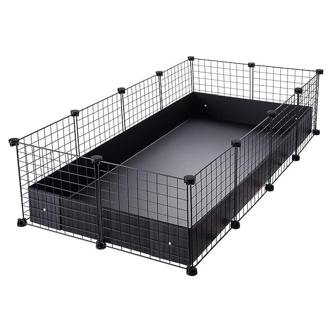 CagesCubes - Jaula CyC Grande (2X4 Paneles en Negro) + Base de ...