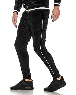 PROJECT X - Pantalon Jogging Bordeaux Velvet à liserés Homme ... a5d39ff0741c