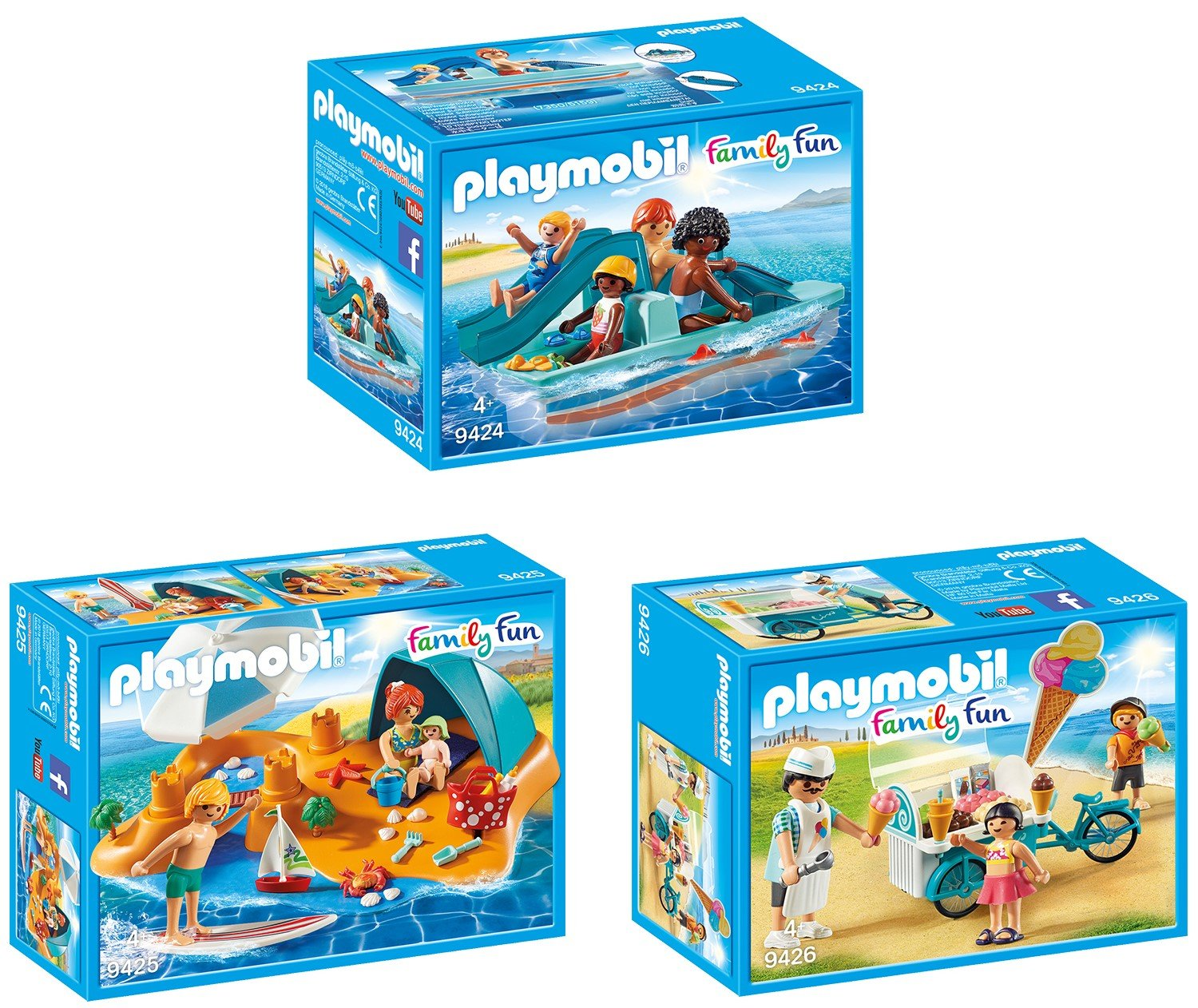 PLAYMOBIL Family at the Beach Family Fun 9425