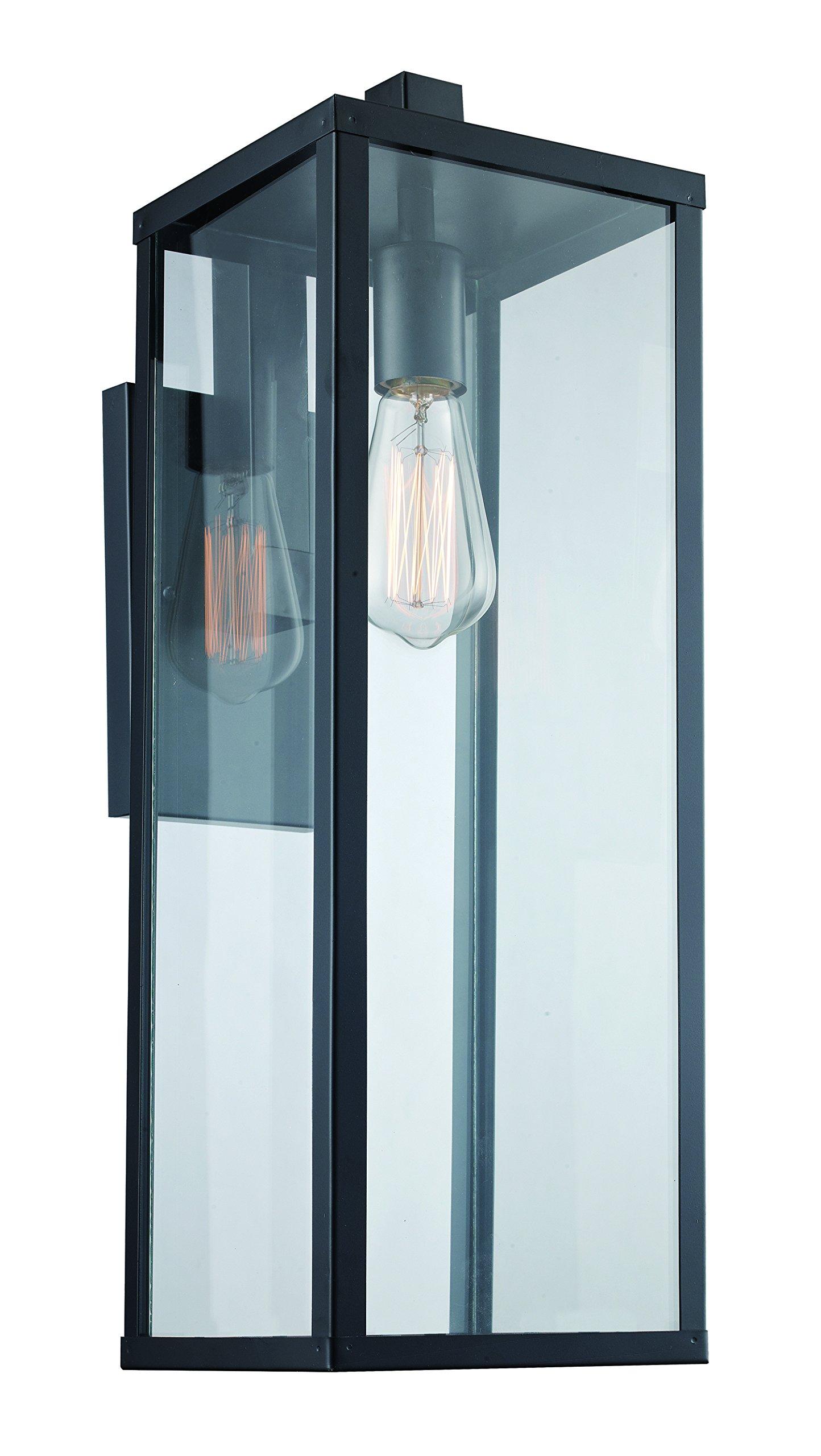Trans Globe Lighting 40752 BK Oxford Industrial Wall Lantern, 22.5'', Outdoor Black