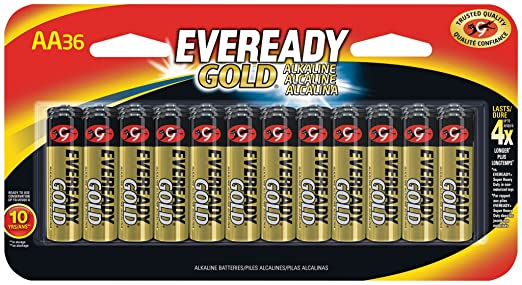Eveready AA Batteries Gold 36 Count