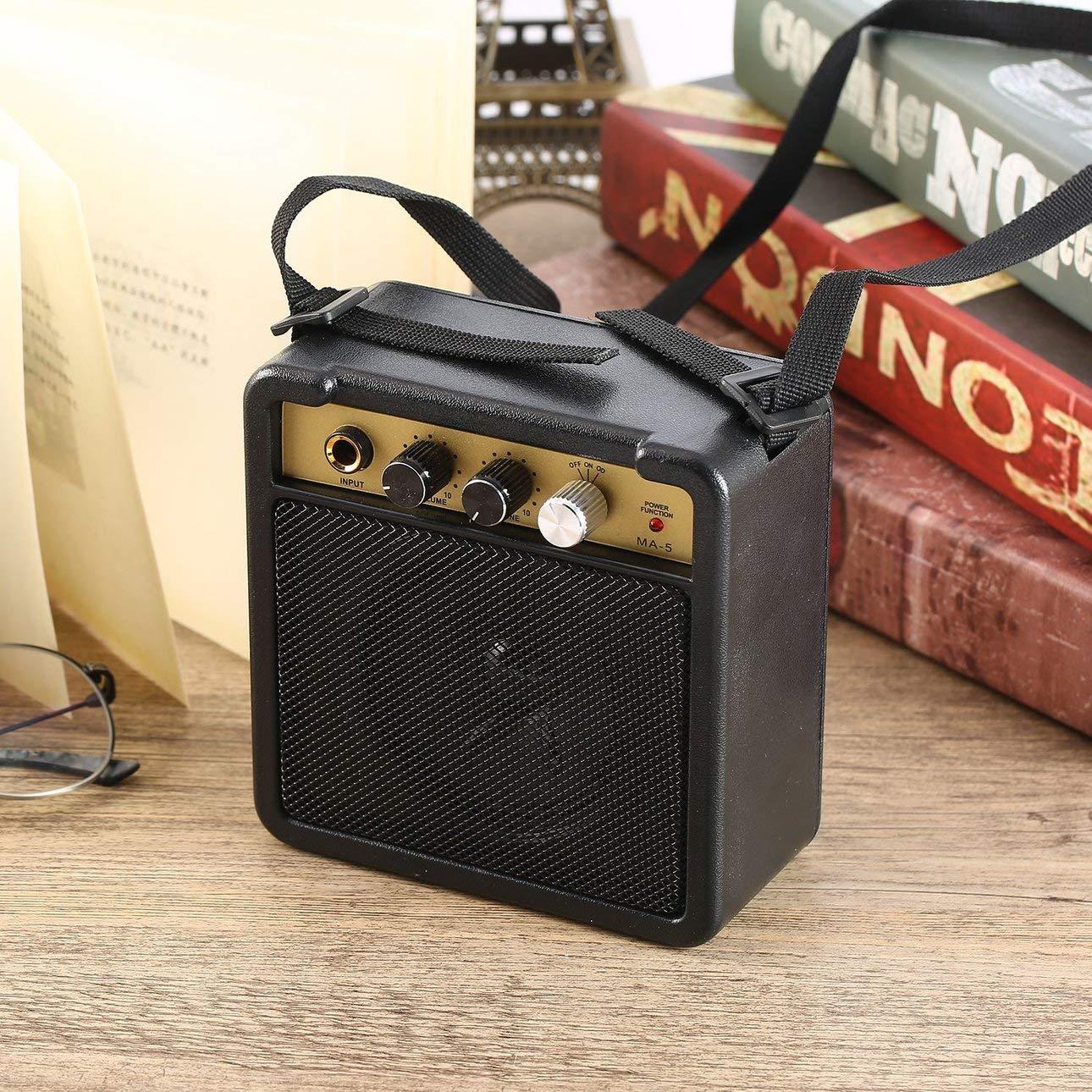 Ballylelly E-Wave Mini Amplificador de Guitarra Amplificador de Guitarra con Clip Trasero Accesorios de Guitarra para Guitarra acústica eléctrica E-Wave: ...
