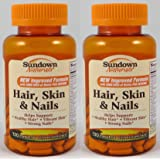 Sundown Naturals Hair, Skin & Nails, 120 Caplets (Pack of 2) Total 240