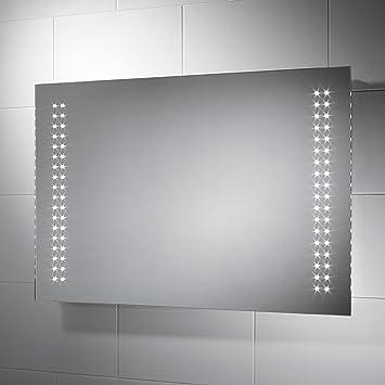 Pebble Grey Sorento Led Badezimmerspiegel Mit Lichtsensor Steckdose