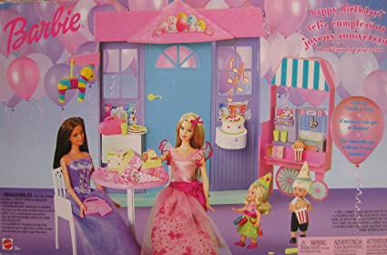 Barbie Happy Birthday Playset w Light Up Candle & Song (2002)