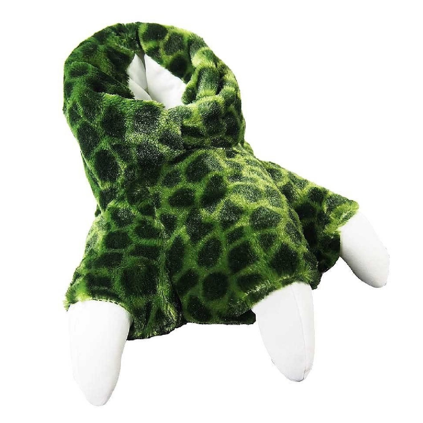 Green Turtle Sound Sundial Wild Ones Furry Animal Claw Slippers for Toddlers, Kids and Adults