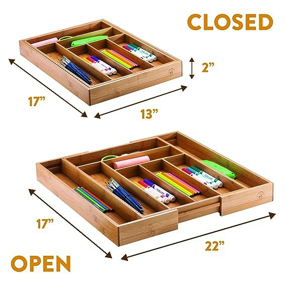 Bambüsi - Organizador ampliable para cubiertos de cajón de ...