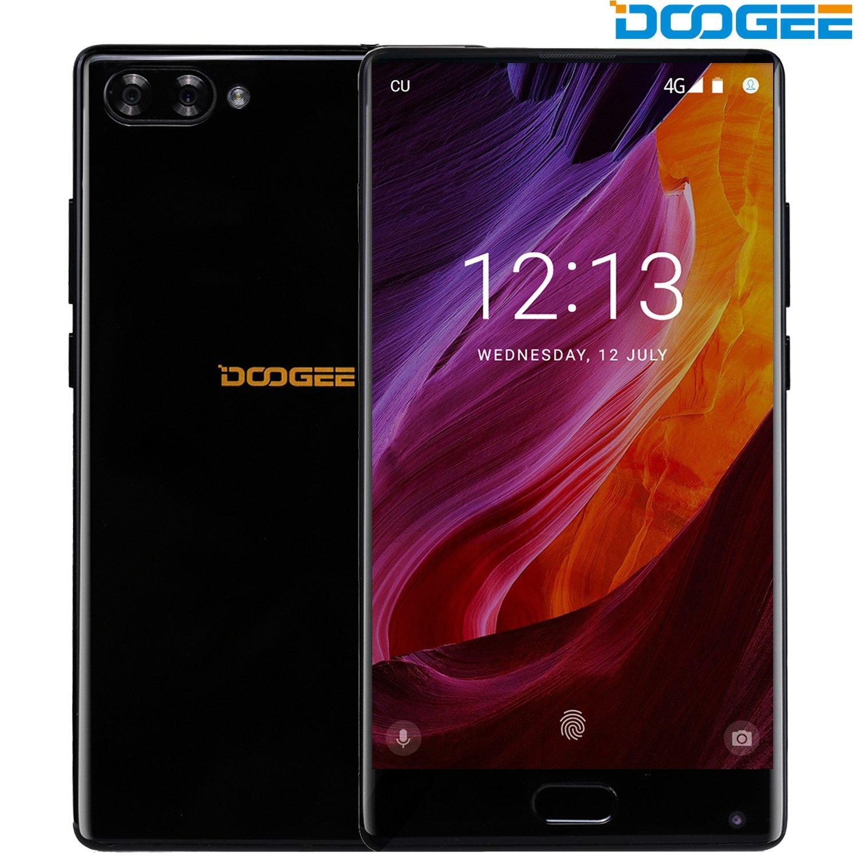 Smartphone in Offerta, DOOGEE MIX Android 7.0 MediaTek Helio P25 64-bit Octa-core Telefonia Mobile - 5.5 Pollici Bezel-less Schermo 4G Telefoni Cellulari con 6GB RAM+64GB ROM - 3380mAh e Fotocamera Doppia da 16MP + 8MP e 5.0MP Fotocamera Frontale - Nero