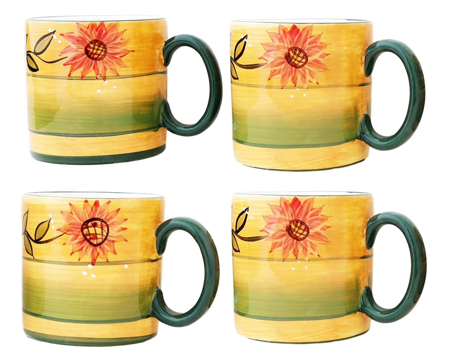 Country Sunflower Mug (Set of 4) A.C.K. Trading Co. 82915