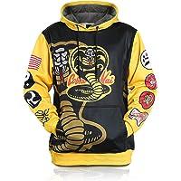 Cobra-Kai-Strike-Hard-First Cosplay Winter Pullover Hoodie for Mens Sweatshirt