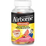 Airborne Assorted Fruit Flavored Gummies, 42 count - 750mg of Vitamin C and Minerals & Herbs Immune Support (Packaging May Vary)