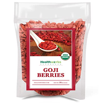 Amazon Com Healthworks Raw Goji Berries 16 Ounces 1 Pound