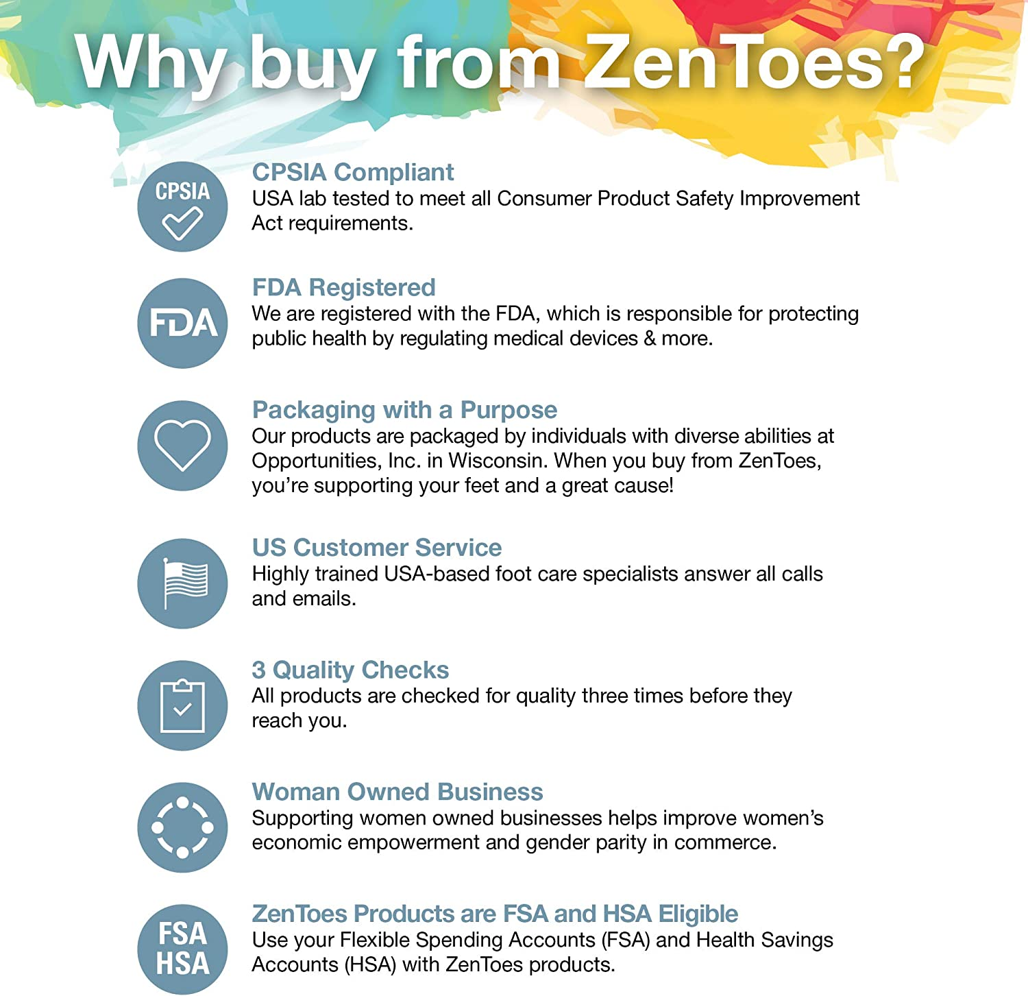 ZenToes 5 Pack Toe Caps Closed Toe Fabric Sleeve Protectors with Gel Lining, Prevent Corn, Callus, Blister Development Between Toes, Soften and Soothe The Skin (Size Medium): Health & Personal Care