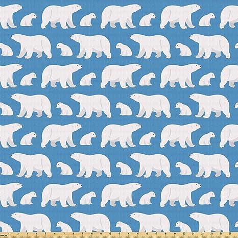Ambesonne - Tela de oso polar por el patio, Carnivore de la ...