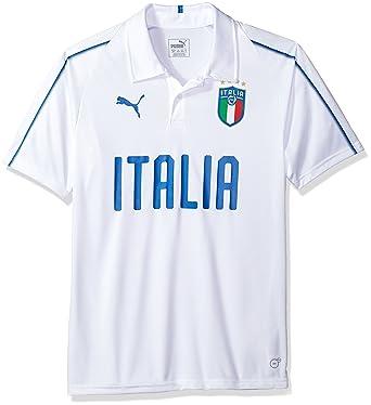 PUMA Mens FIGC Italia Polyester Polo, White, ...